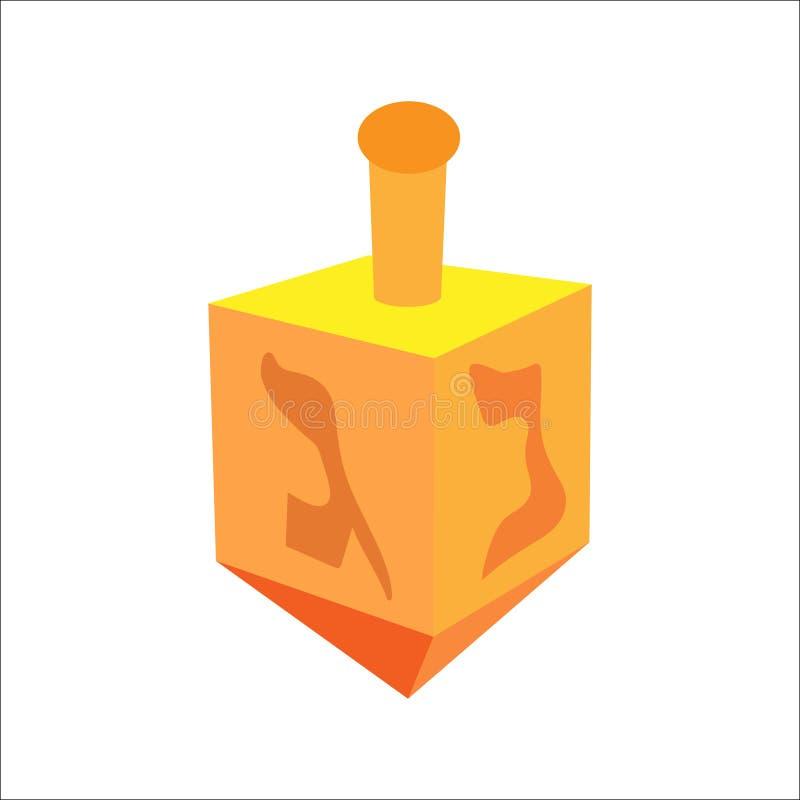 Isometric επίπεδο hanukkah dreidel, εβραϊκό εικονίδιο διακοπών Απεικόνιση του στοιχείου για το hanukkah στο διάνυσμα διανυσματική απεικόνιση