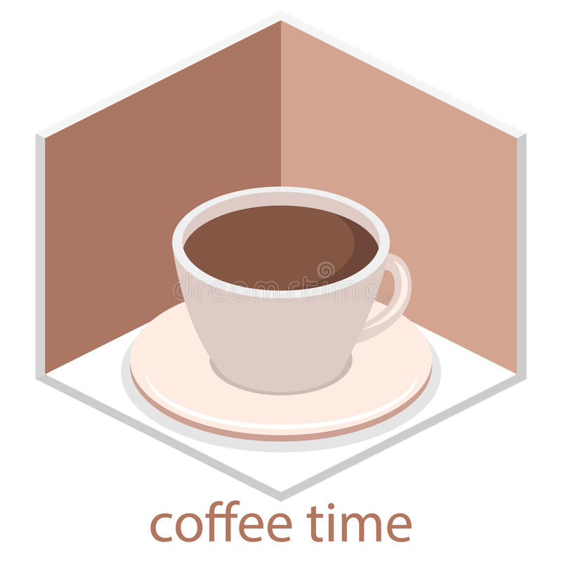 Isometric εσωτερικό της καφετερίας επίπεδο τρισδιάστατο isometric εσωτερικό καφές ή εστιατόριο σχεδίου Οι άνθρωποι κάθονται στους ελεύθερη απεικόνιση δικαιώματος