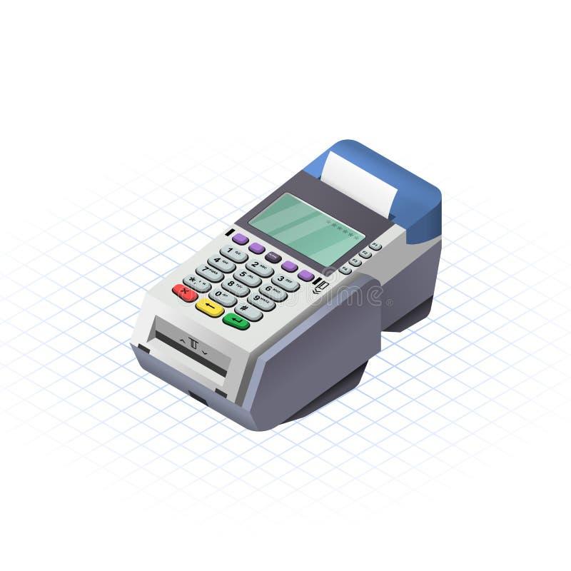 Isometric ηλεκτρονική συλλογή δεδομένων απεικόνιση αποθεμάτων