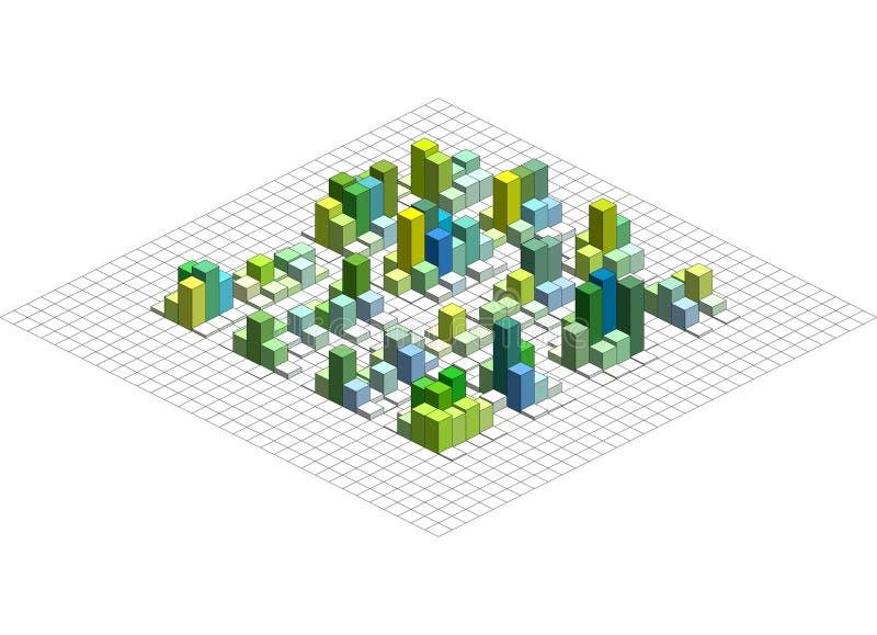 Isometric διανυσματική γραφική παράσταση Infographic ελεύθερη απεικόνιση δικαιώματος
