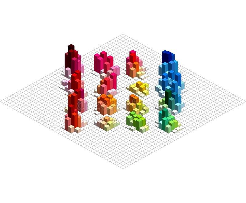 Isometric διανυσματική γραφική παράσταση Infographic απεικόνιση αποθεμάτων
