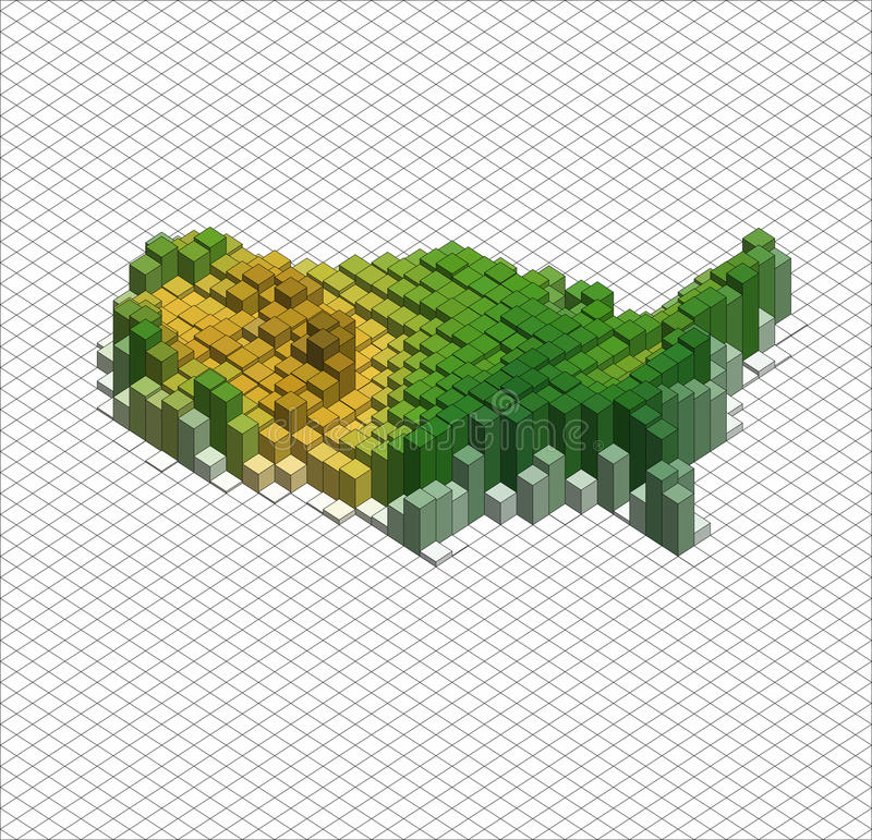 Isometric διανυσματική γραφική παράσταση Infographic διανυσματική απεικόνιση