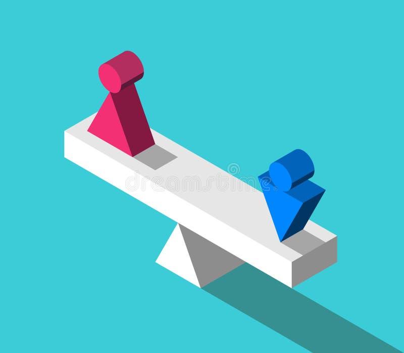 Isometric κλίμακα, αρσενικό, θηλυκό απεικόνιση αποθεμάτων