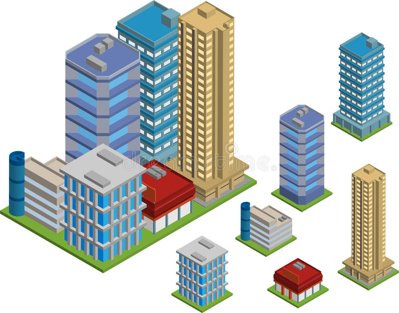 Isometric κτήρια απεικόνιση αποθεμάτων