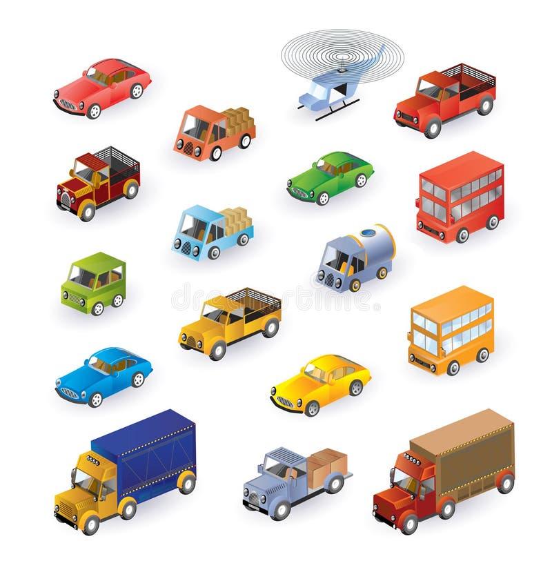 isometric οχήματα απεικόνιση αποθεμάτων