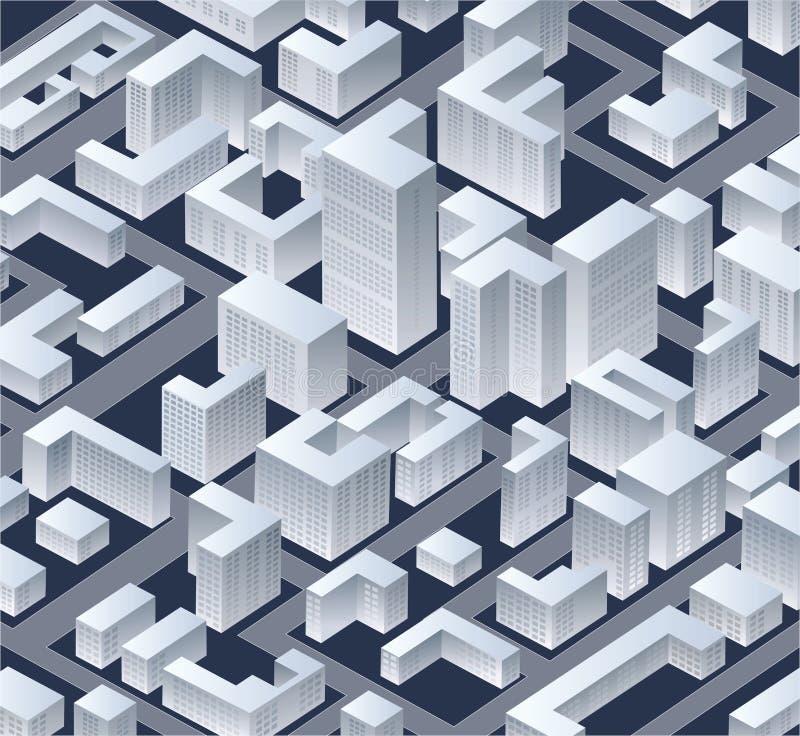 Isometric   πόλη διανυσματική απεικόνιση