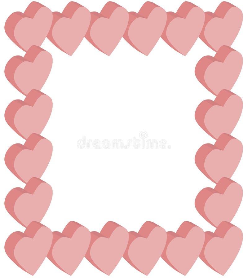 Isometric ροζ καρδιών πλαισίων ελεύθερη απεικόνιση δικαιώματος
