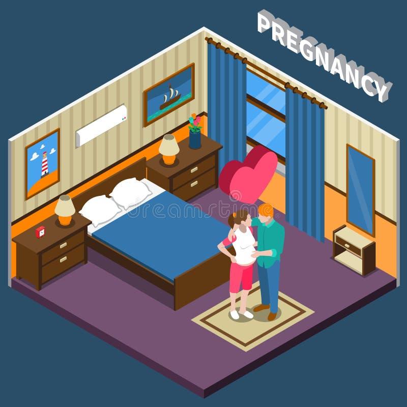 Isometric σύνθεση εγκυμοσύνης διανυσματική απεικόνιση