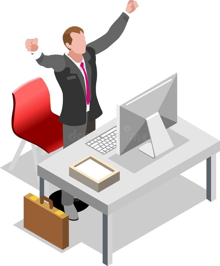 Isometric τράπεζα μολύβδου πώλησης επιχειρηματιών ελεύθερη απεικόνιση δικαιώματος