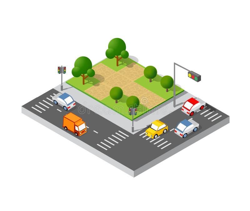 Isometric τρισδιάστατα δέντρα ελεύθερη απεικόνιση δικαιώματος