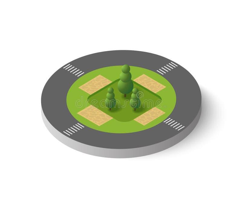 Isometric τρισδιάστατα δέντρα διανυσματική απεικόνιση