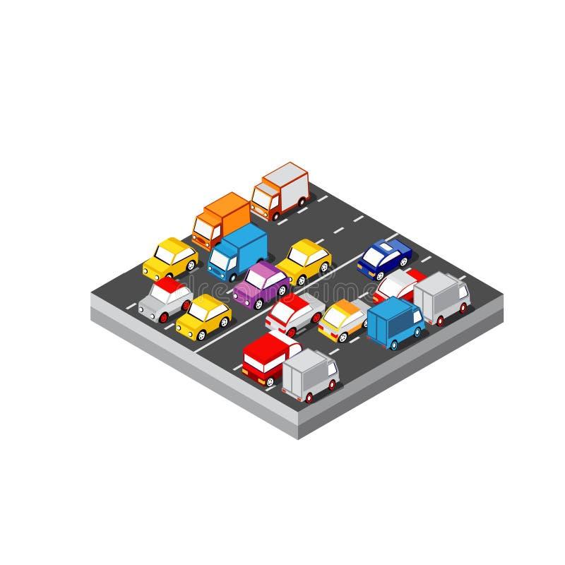 Isometric τρισδιάστατο αυτοκίνητο ελεύθερη απεικόνιση δικαιώματος