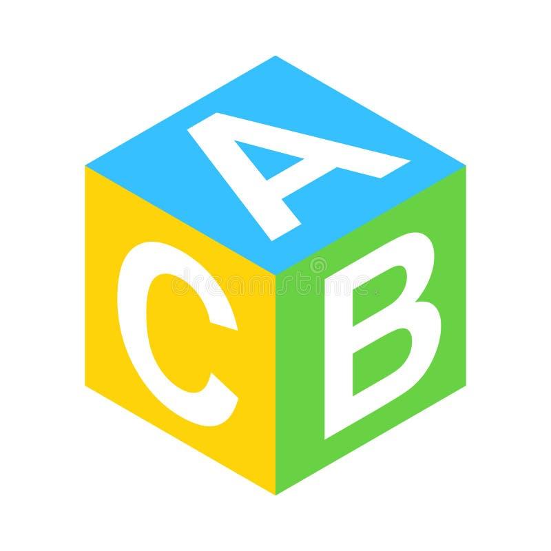 Isometric τρισδιάστατο εικονίδιο φραγμών ABC ελεύθερη απεικόνιση δικαιώματος