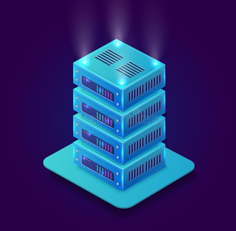 Isometric τρισδιάστατο blockchain διανυσματική απεικόνιση