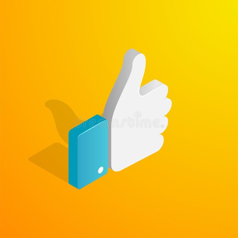 Isometric χέρι όπως το εικονίδιο απεικόνιση αποθεμάτων