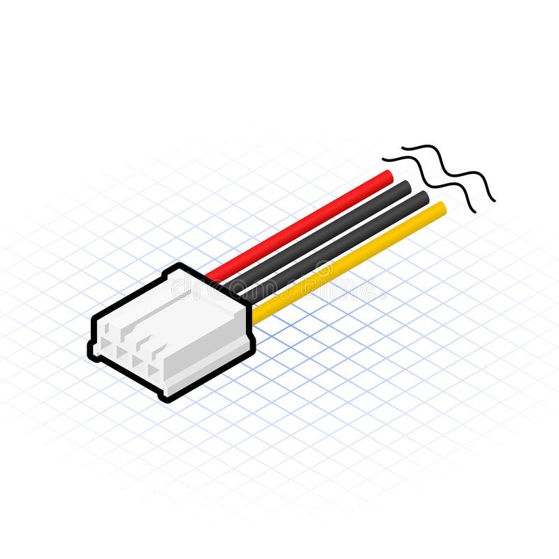 Free Isometric 4 Pin Floppy Connector Vector Illustration Royalty Free Stock Photo - 43694245