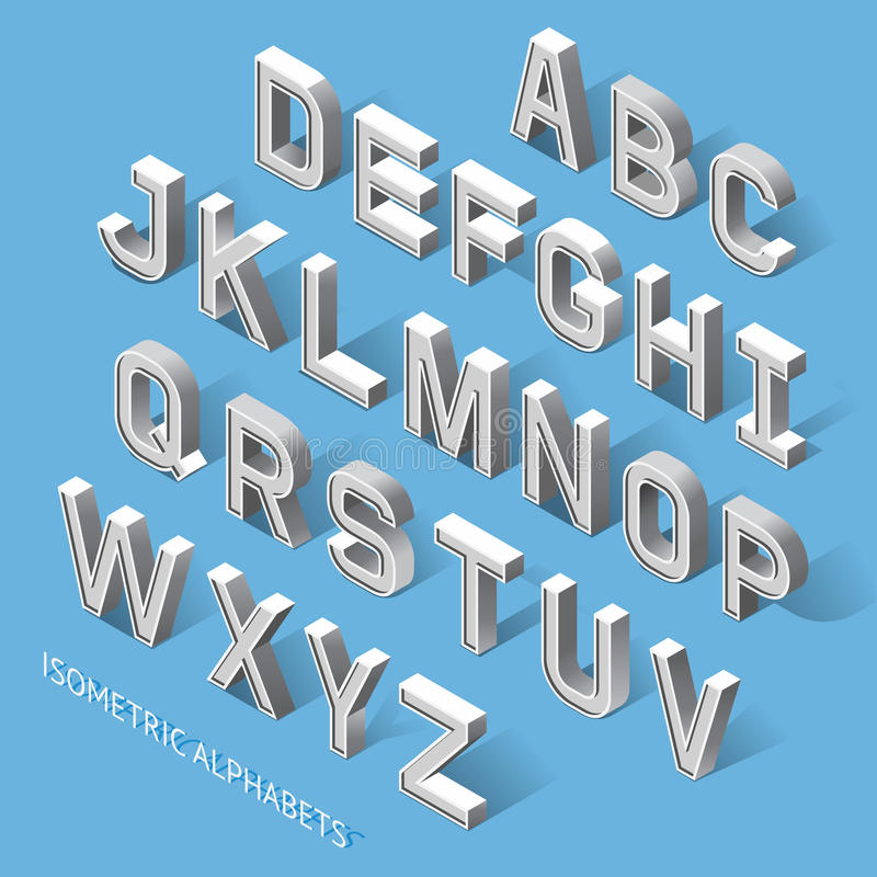 Isometric Alphabets. Vector Illustration. Set of Isometric Alphabets. Vector Illustration vector illustration