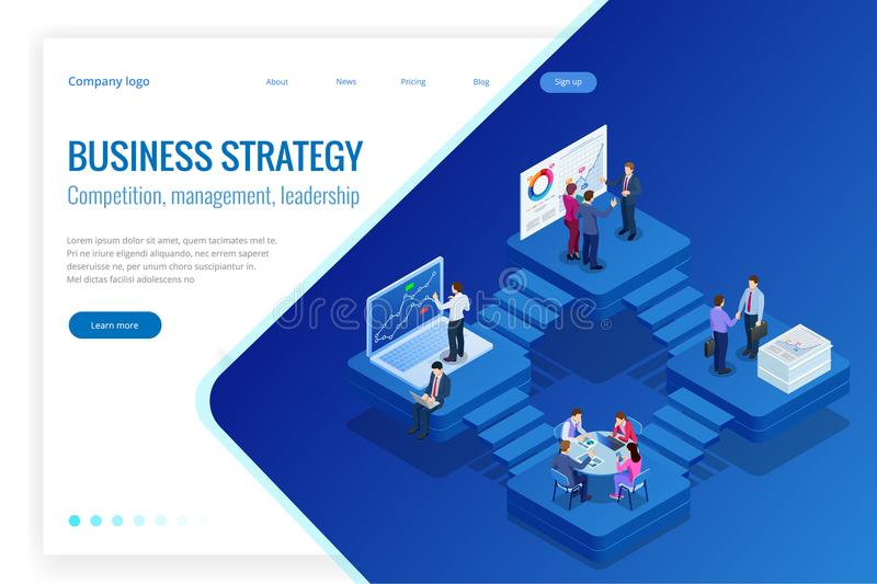 Isometric Analysis data and Investment. Project management, business communication, workflow and consulting. Website and. Mobile website development, SEO stock illustration