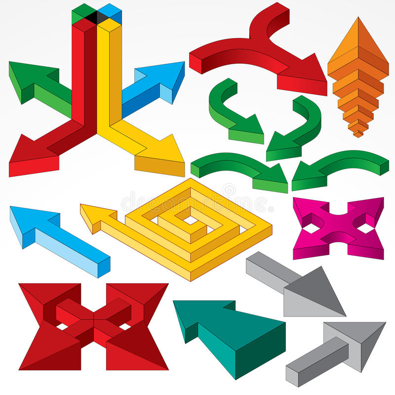 Download Isometric Arrows Royalty Free Stock Image - Image: 18198566