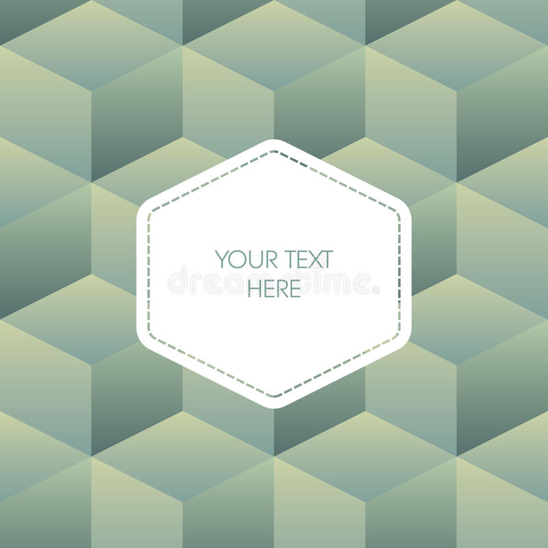 Isometric background cubes in retro vintage colors royalty free illustration