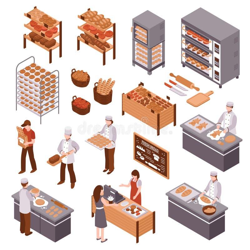 Isometric Bakery Set royalty free illustration