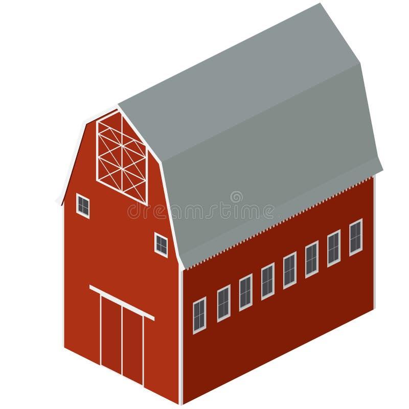 Isometric Barn royalty free stock photos