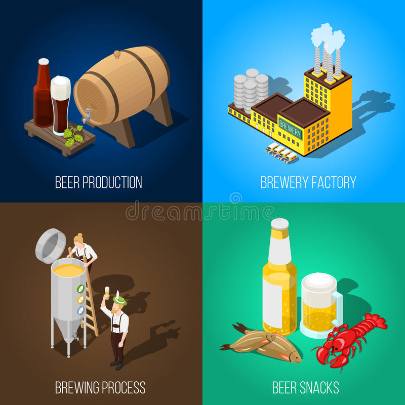 Isometric Beer 2x2 Concept royalty free illustration