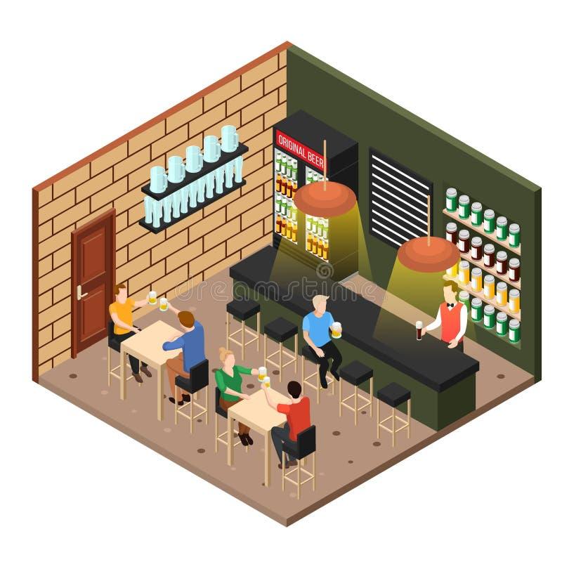 Isometric Beer Shop stock illustration