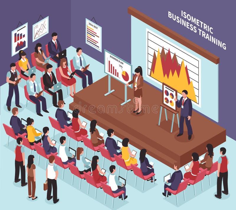 Isometric Biznesowa Stażowa ilustracja ilustracja wektor
