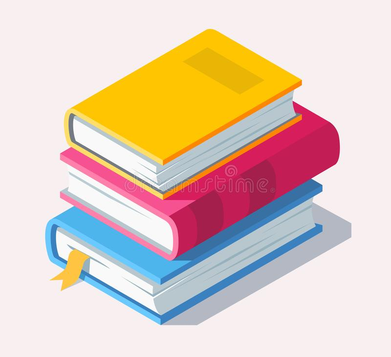 Isometric book icon in flat style. vector illustration