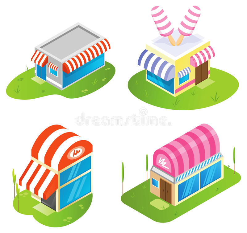 Download Isometric buildings stock vector. Illustration of factory - 10462012
