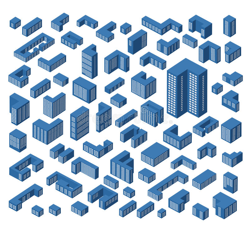 Download Isometric buildings stock vector. Image of symbol, city - 32253280