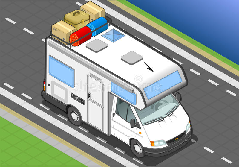 Download Isometric Camper In Front View Stock Image - Image: 30775637