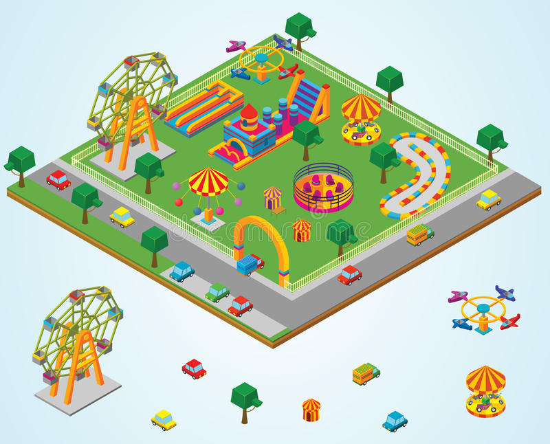 Isometric Carnival vector illustration
