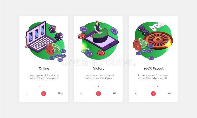 Isometric Casino Banners Set vector illustration