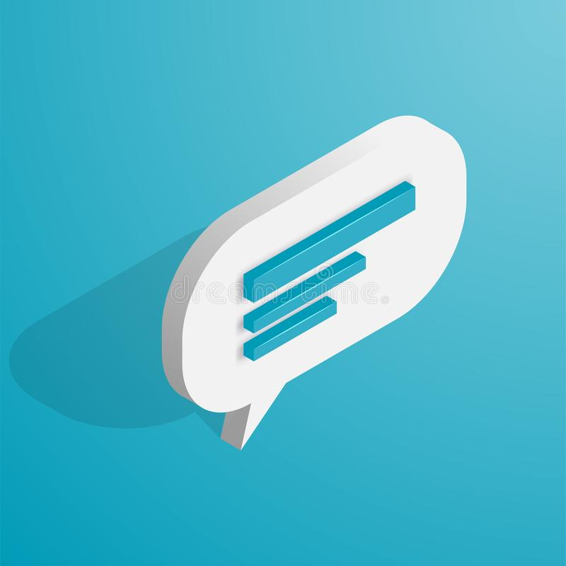 Isometric Chat icon vector illustration