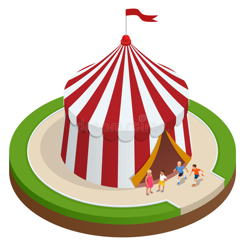 Download Isometric Circus Tent And Children. Vector Illustration Stock Vector - Image 93653566  sc 1 st  Dreamstime.com & Isometric Circus Tent And Children. Vector Illustration Stock ...