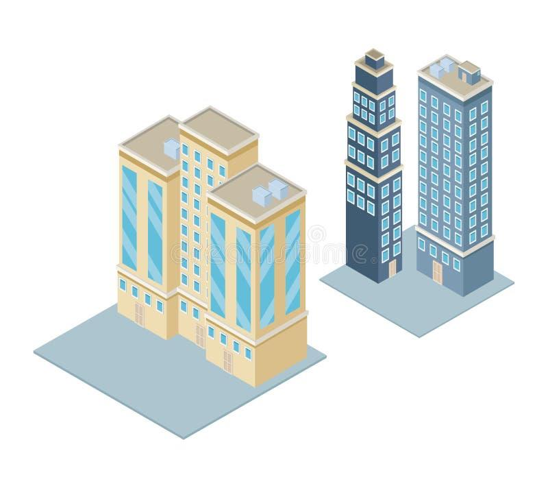 Isometric city 3d. Icon illustration graphic design vector illustration