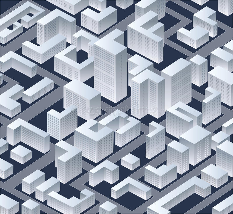 Download Isometric   city stock vector. Illustration of built - 32112989