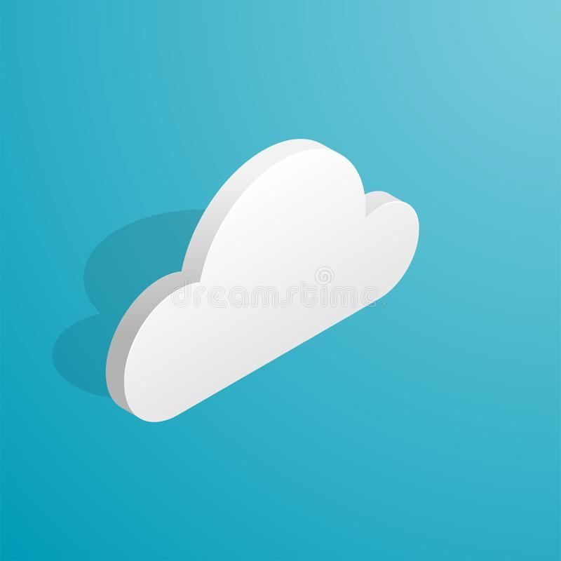 Isometric cloud icon royalty free illustration