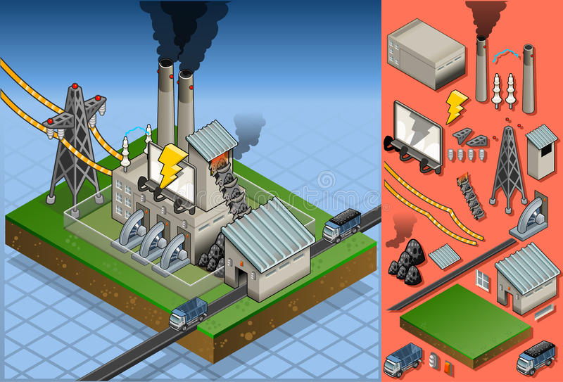 Download Isometric Coal Plant In Production Of Energy Stock Vector - Image: 26492810