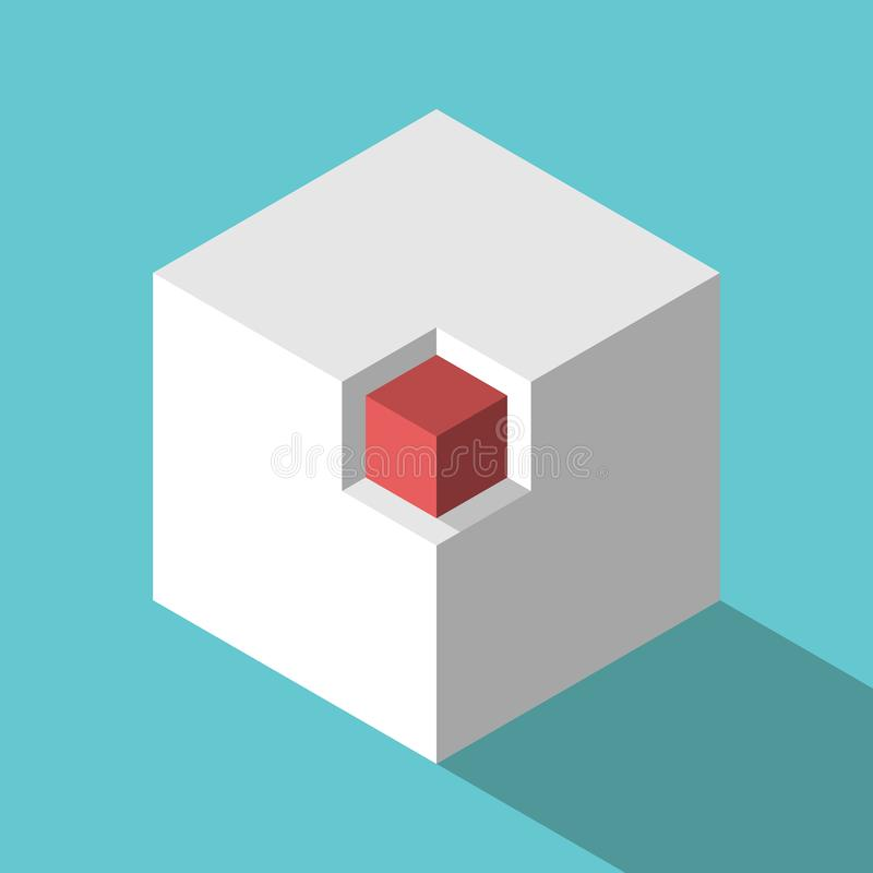 Free Isometric Cube In Niche Royalty Free Stock Photography - 159335017