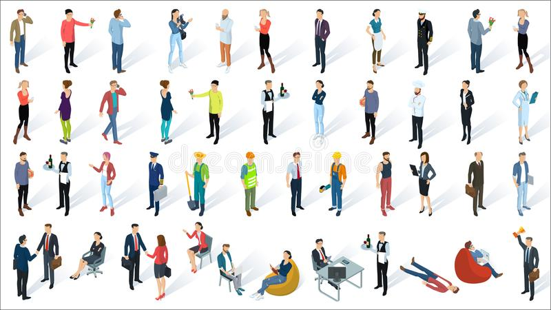 Isometric 3d flat design vector people vector illustration