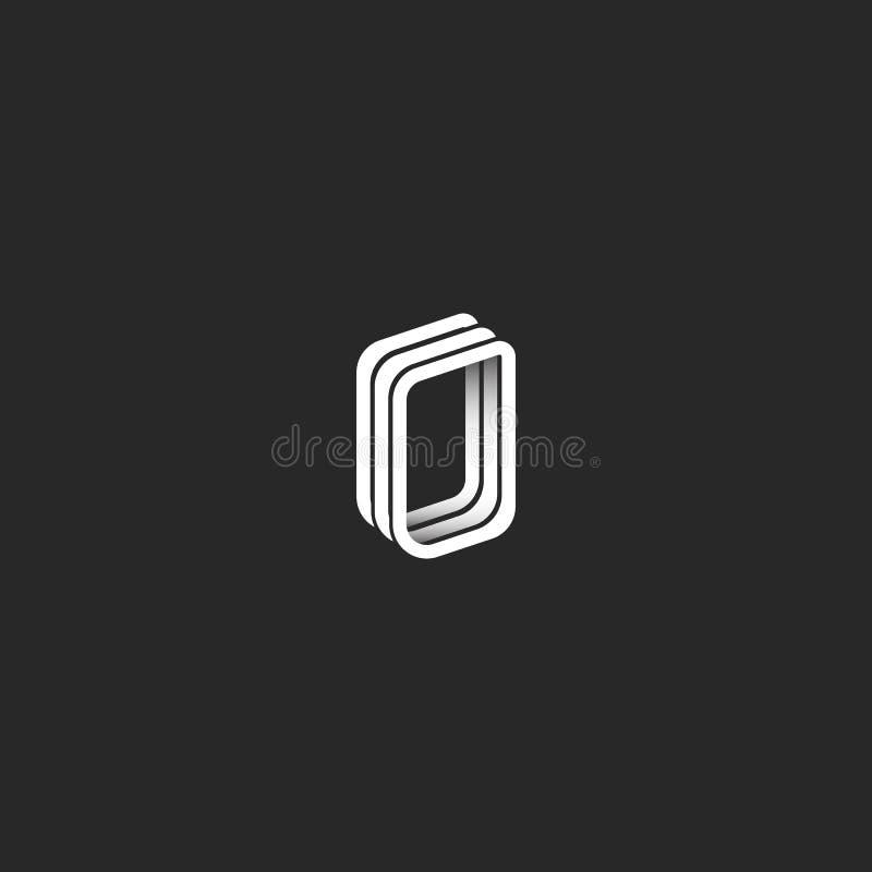 Isometric 3d Letter O Logo Monogram Hipster Graphic Design