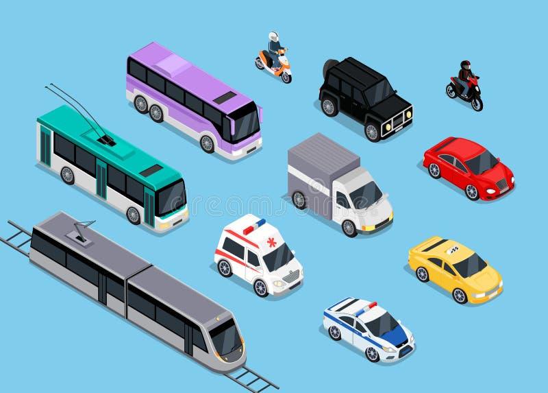 Isometric 3d transportu Ustalony Płaski projekt ilustracji
