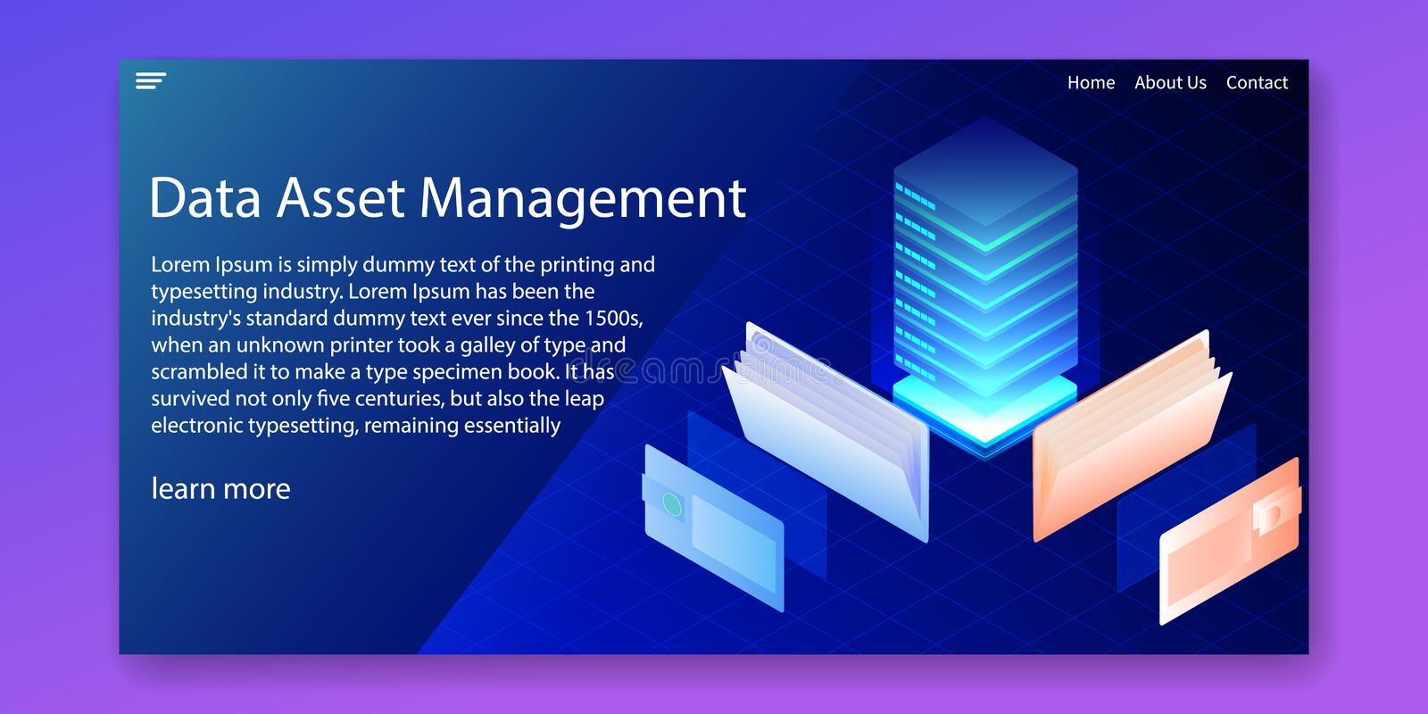 Isometric data asset management and information analysis system concept.Web template design.vector illustration.  royalty free stock photography