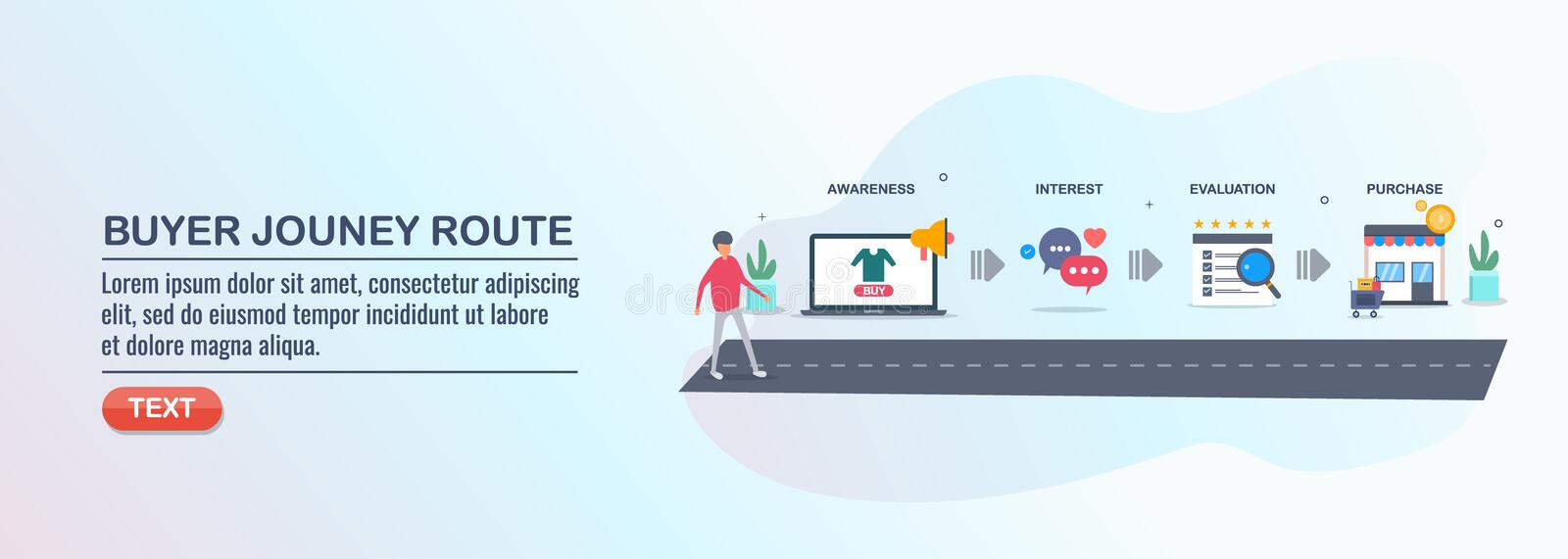 Customer experience - purchasing journey map - buyer conversion route - isometric design concept. vector illustration