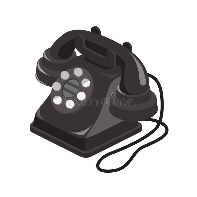 Isometric Drawing of Old Telephone royalty free stock photo