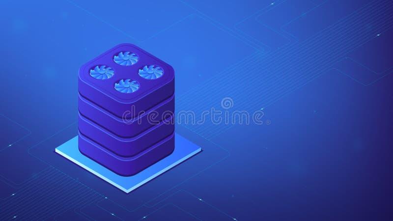 Isometric data warehouse illustration. royalty free illustration