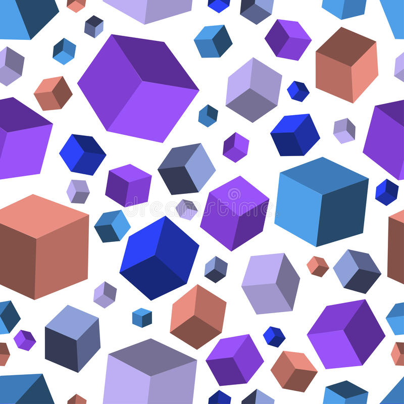 Isometric fall cubes seamles texture background. Vector. EPS royalty free illustration